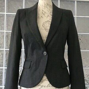 Zara Charcoal Gray Basic Blazer